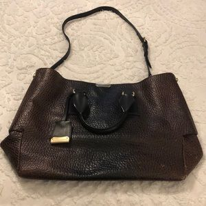 Burberry Callaghan Pebbled Leather Tote Bag